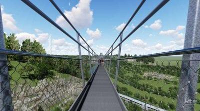 Neckarline Hängebrücke Rottweil